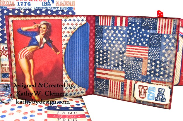 Authentique Liberty Star Spangled Cowgirl Boots Card Folio by Kathy Clement Kathy by Design for Really Reasonable Ribbon Photo 06