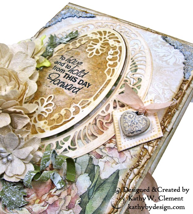 Amazing Paper Grace Vintage Treasures Dies Bella Luce Oval Stamperia Ceremony Wedding Folio by Kathy Clement Kathy by Design Photo 04
