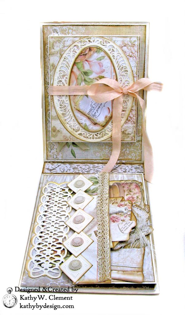 Amazing Paper Grace Vintage Treasures Dies Bella Luce Oval Stamperia Ceremony Wedding Folio by Kathy Clement Kathy by Design Photo 05