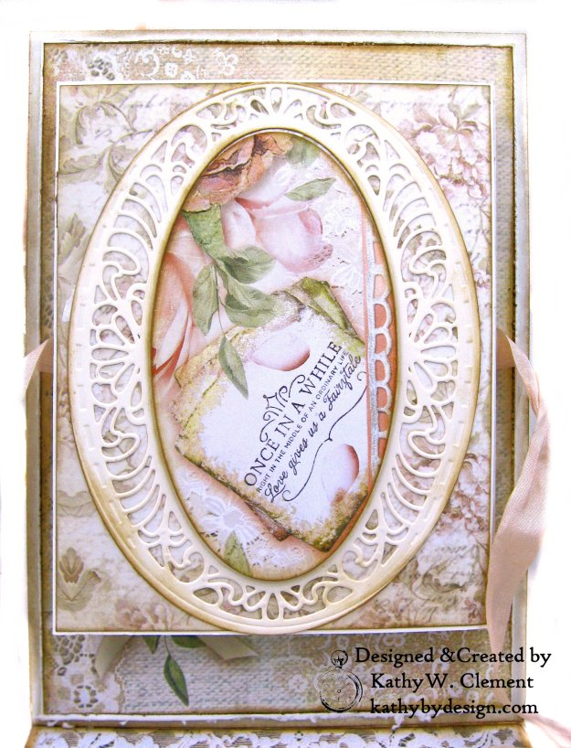 Amazing Paper Grace Vintage Treasures Dies Bella Luce Oval Stamperia Ceremony Wedding Folio by Kathy Clement Kathy by Design Photo 10