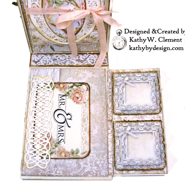 Amazing Paper Grace Vintage Treasures Dies Bella Luce Oval Stamperia Ceremony Wedding Folio by Kathy Clement Kathy by Design Photo 08