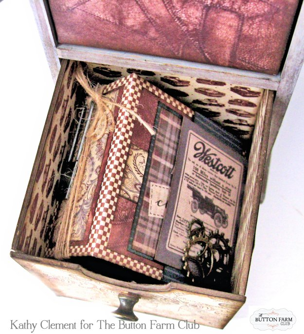 Authentique Mister Desk Organizer Kit for Dad by Kathy Clement Kathy by Design for The Button Farm Club Photo 05