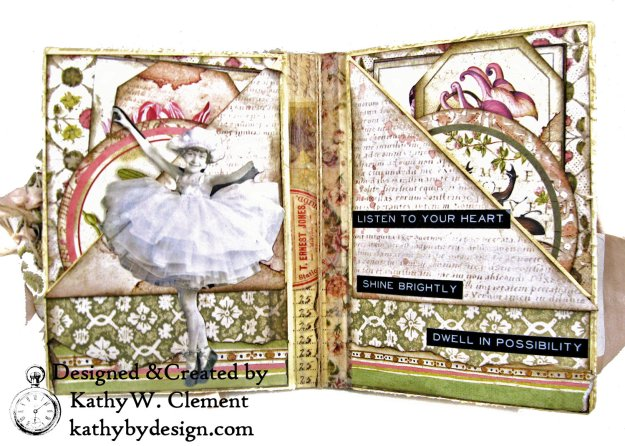 Stamperia Spring Botanic Eileen Hull Notebook Video Tutorial by Kathy Clement Kathy by Design for The Funkie Junkie Boutique Photo 05