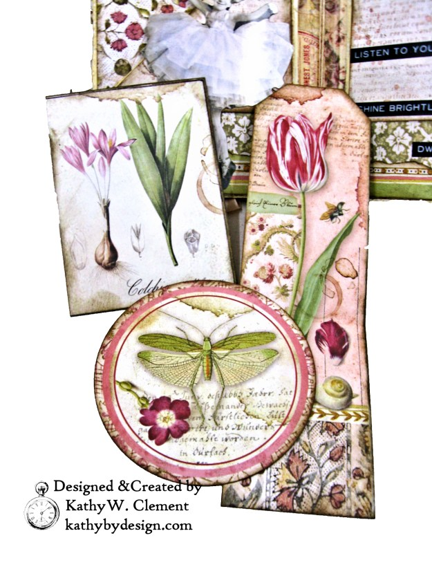 Stamperia Spring Botanic Eileen Hull Notebook Video Tutorial by Kathy Clement Kathy by Design for The Funkie Junkie Boutique Photo 06