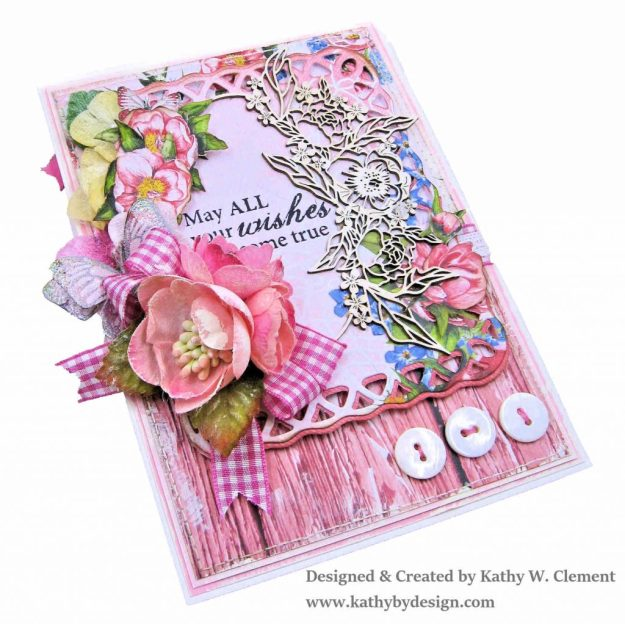 Laserowe Love Coral Romance Birthday Card by Kathy Clement Kathy by Design for Really Reasonable Ribbon Photo 03