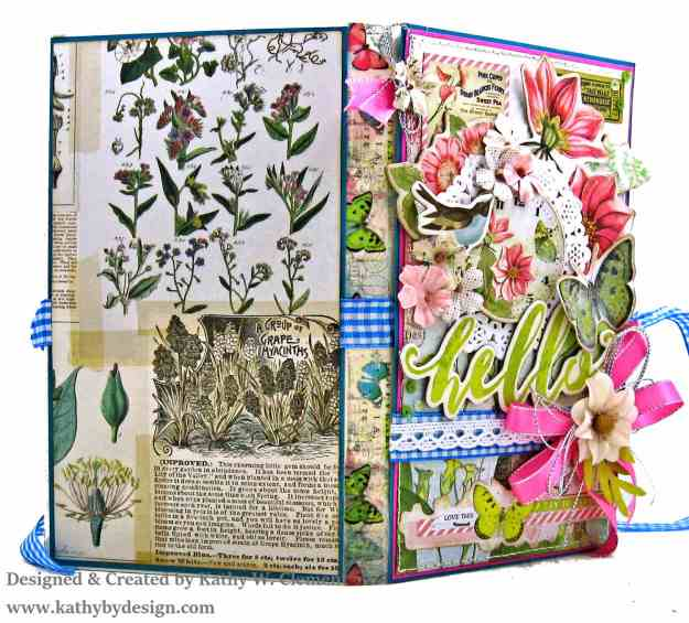 Simple Stories Simple Vintage Botanicals Folio by Kathy Clement for Really Reasonable Ribbon Photo 03
