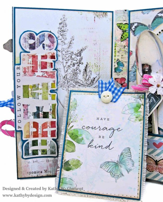 Simple Stories Simple Vintage Botanicals Folio by Kathy Clement for Really Reasonable Ribbon Photo 09
