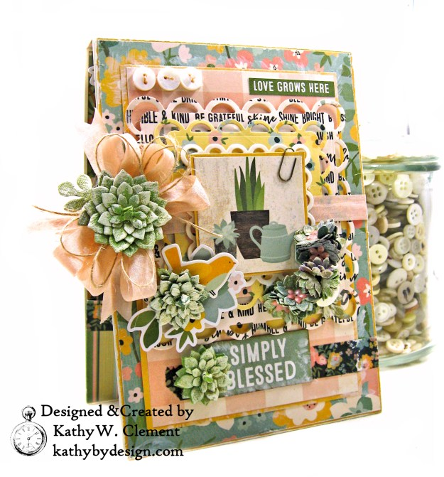 Simple Stories Spring Farmhouse Simply Blessed Card Folio by Kathy Clement Kathy by Design Photo  02