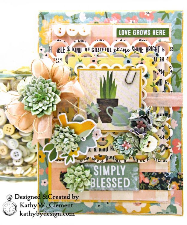 Simple Stories Spring Farmhouse Simply Blessed Card Folio by Kathy Clement Kathy by Design Photo 01