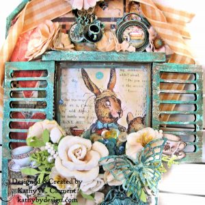 Stamperia Alice Mixed Media Etcetera Tag by Kathy Clement Kathy by Design for The Funkie Junkie Boutique