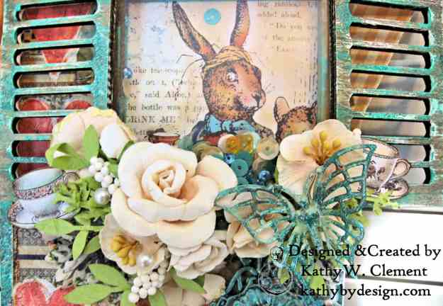 Stamperia Alice Mixed Media Etcetera Tag by Kathy Clement Kathy by Design for The Funkie Junkie Boutique Photo 02