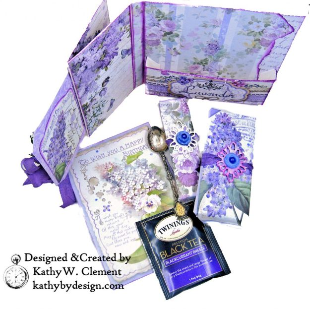 Summer Berries Box Card Spellbinders Amazing Paper Grace Cannetille Rectangle Dies Stamperia Provence Lilac Flowers by Kathy Clement Kathy by Design Photo 03