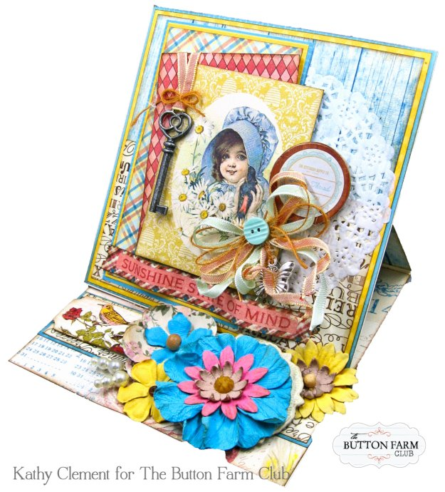 Authentique Endless Summer Card Kit for The Button Farm Club by Kathy Clement Kathy by Design Photo 05
