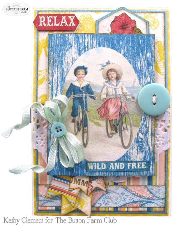 Authentique Endless Summer Card Kit for The Button Farm Club by Kathy Clement Kathy by Design Photo 08
