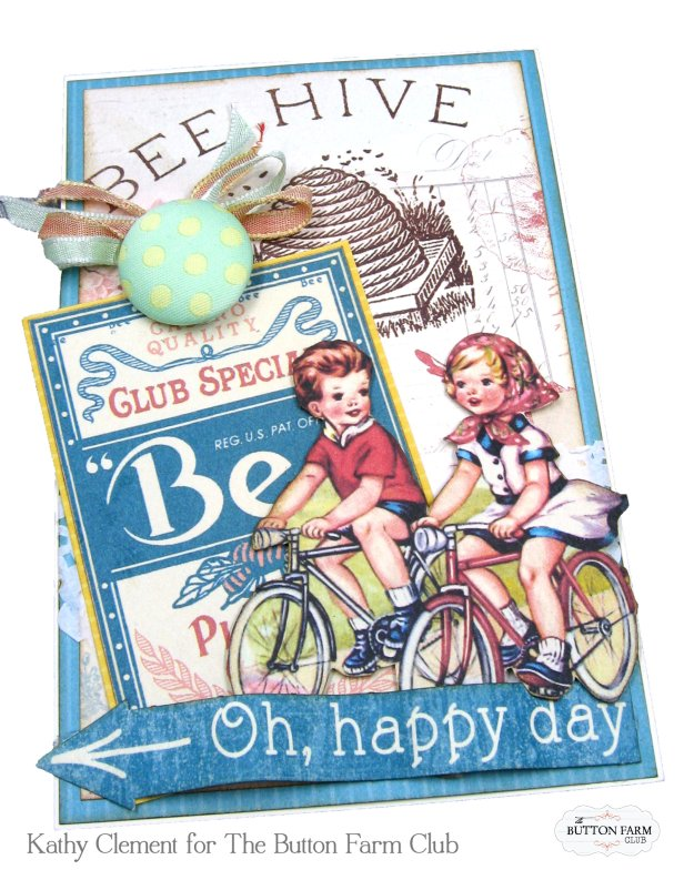 Authentique Endless Summer Card Kit for The Button Farm Club by Kathy Clement Kathy by Design Photo 09
