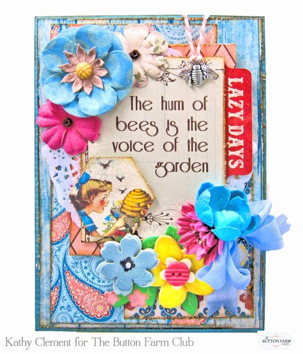 Authentique Endless Summer Card Kit for The Button Farm Club by Kathy Clement Kathy by Design Photo 02