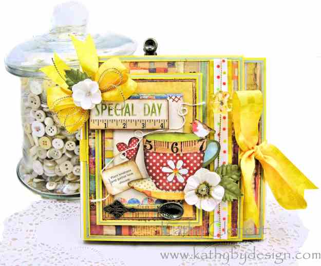 Stamperia Patchwork Tea Folio by Kathy Clement for Really Reasonable Ribbon Photo 02