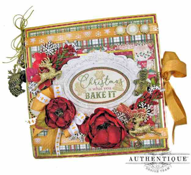 Authentique Rejoice Christmas Recipe Folio with Really Reasonable Ribbon by Kathy Clement Kathy by Design Photo 01