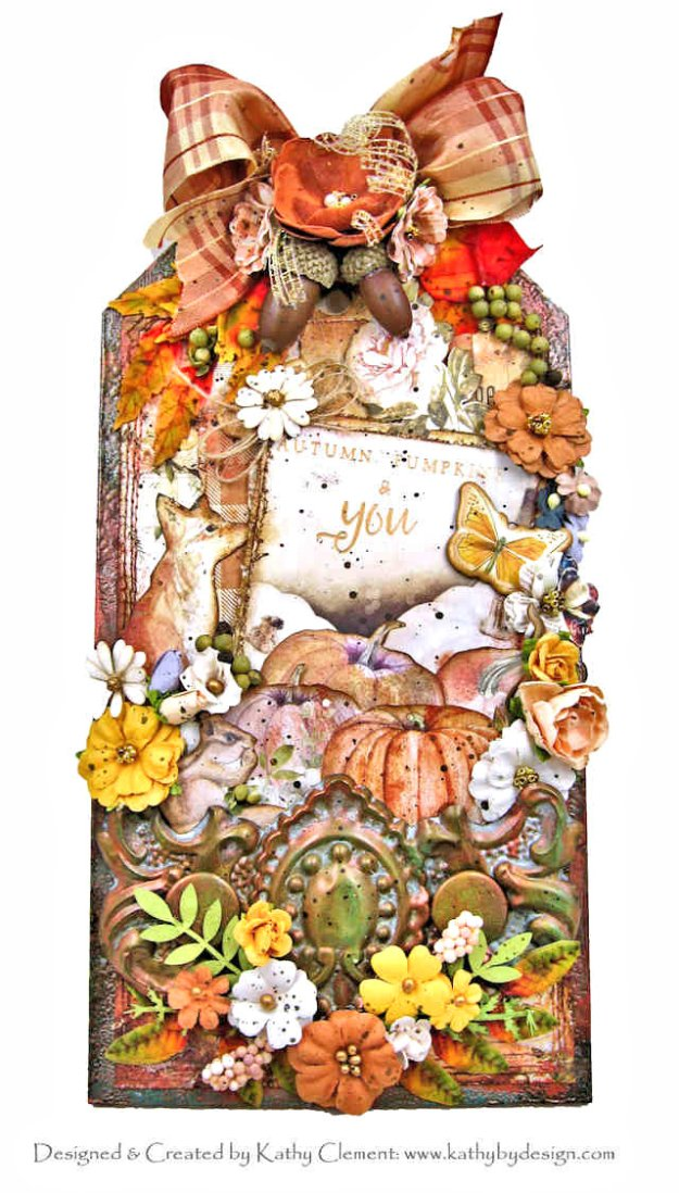 Autumn, Pumpkins and You Mixed Media Etcetera Tag Prima Autumn Sunset by Kathy Clement Kathy by Design Photo 01