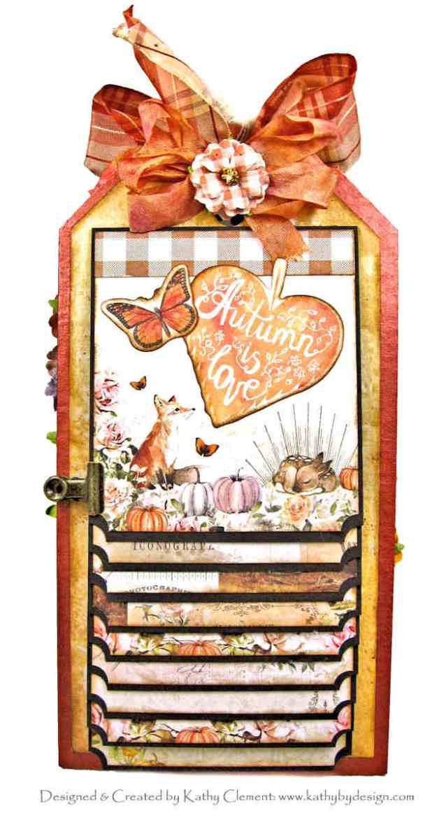 Prima Autumn Sunset Mixed Media Etcetera Tag Waterfall by Kathy Clement Kathy by Design Photo 01