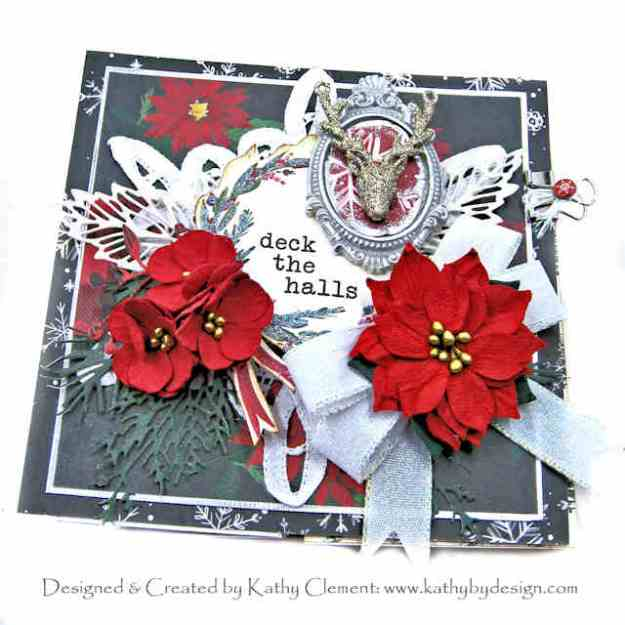 Carta Bella Christmas Market Deck the Halls Christmas Folio by Kathy Clement Kathy by Design Photo 01
