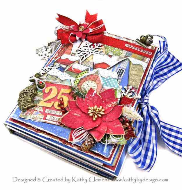 Stamperia Make a Wish Four Fold Folio by Kathy Clement for Really Reasonable Ribbon Photo 01