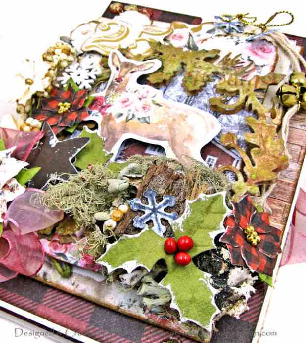 Prima Christmas in the Country Shabby Chic Mrs. Deer Christmas Card by Kathy Clement Kathy by Design Photo 01
