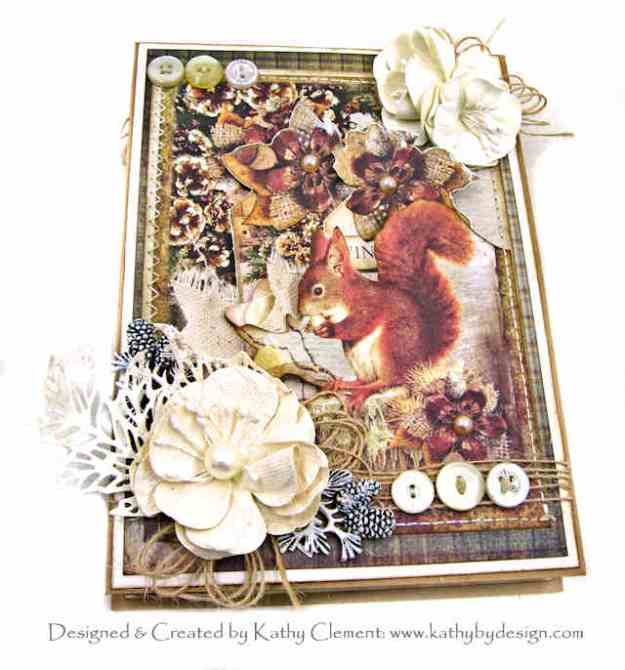 Ciao Bella Sound of Winter Frisky Squirrel Card Folio by Kathy Clement Kathy by Design Photo 01
