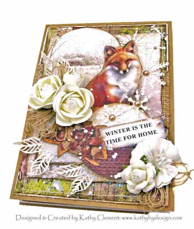 Ciao Bella Sound of Winter Wiinter Fox Woodland Style Card by Kathy Clement Kathy by Design Photo 01