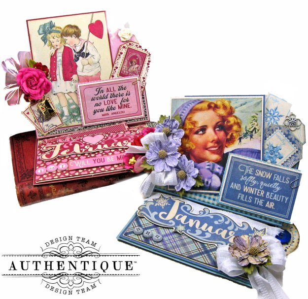 Authentique Calendar Collection January February Desk Calendars by Kathy Clement Kathy by Design PHoto 01