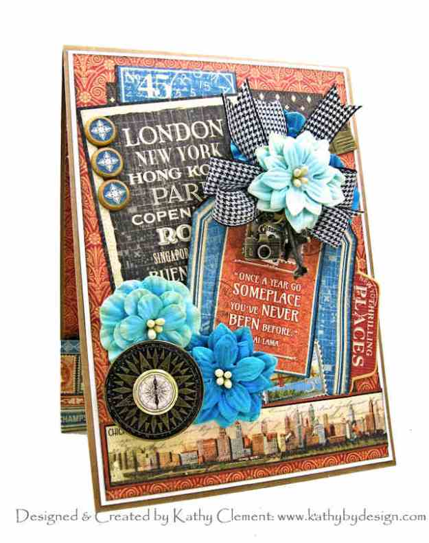 Graphic 45 Cityscapes Birthday Card by Kathy Clement Kathy by Design Photo 01