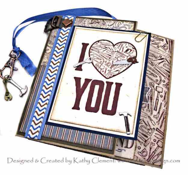 Authentique Mister Masculine Valentine Tutorial for Throwback Thursday by Kathy Clement Kathy by Design Photo 01
