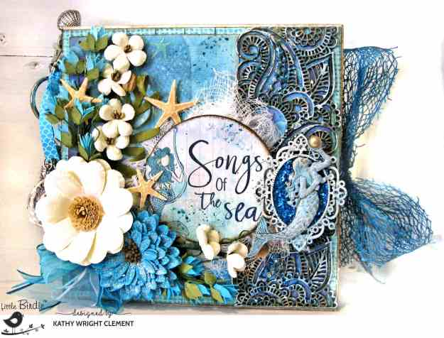 Little Birdie Crafts Songs of the Sea Mermaid Garden Folio by Kathy Clement Kathy by Design Photo 01