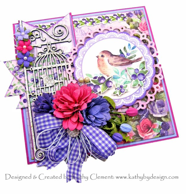 Papercrafting 101 Creating Layered Cards Little Birdie Crafts Birds and Berries by Kathy Clement Kathy by Design Photo 01
