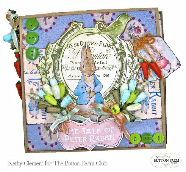 Peter Cottontail Folio by Kathy Clement Kathy by Design Memory Place Peter's World Button Farm Club Kit Reveal Photo 01