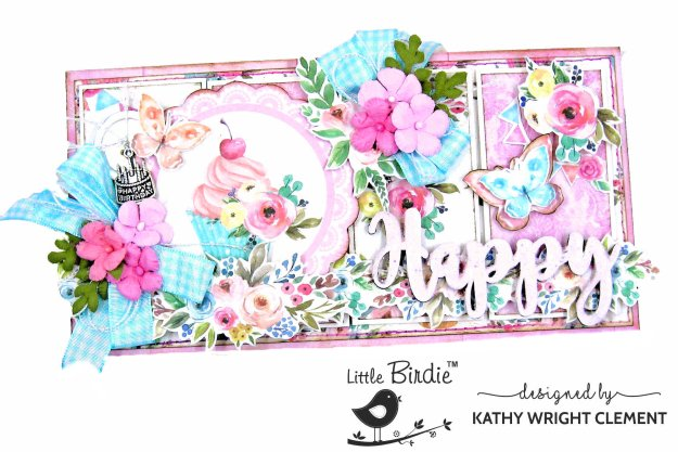 Little Birdie Crafts Celebrate Life Tall and Skinny Card Tutorial