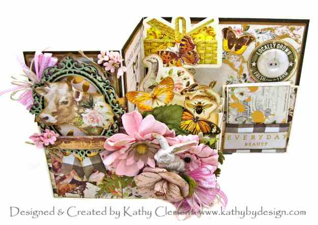 Throwback Thursday Z Fold Pop Up Box Card Tutorial with Prima Spring Farmhouse by Kathy Clement Kathy by Design Photo 01