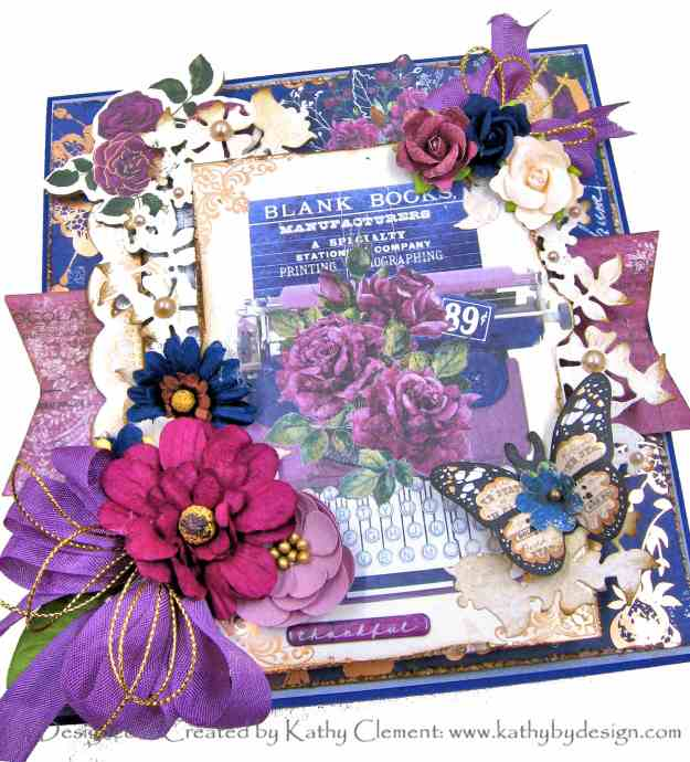 Prima Darcelle Floral Typewriter Card by Kathy Clement Kathy by Design Photo 01