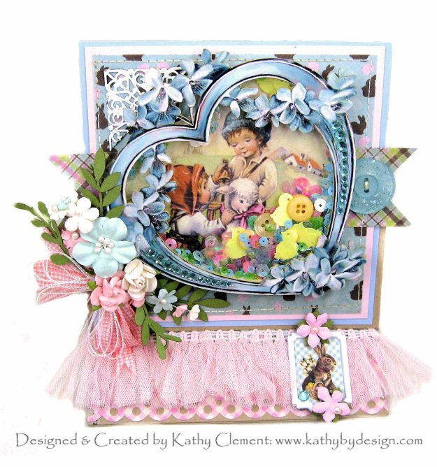 Authentique Cottontail Easter Shaker Card by Kathy Clement Kathy by Design for Really Reasonable Ribbon Photo 01