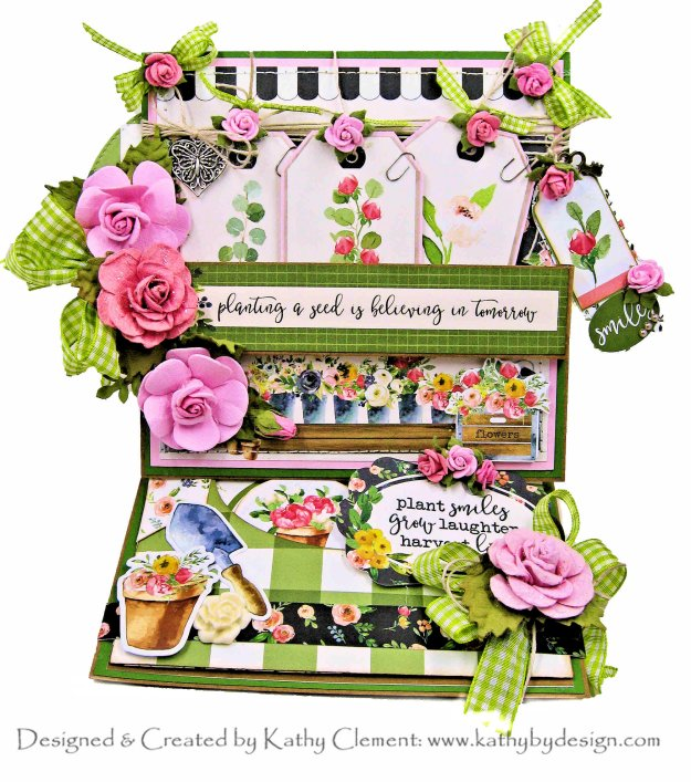 Carta Bella Spring Market Planter's Box Easel Card by Kathy Clement Kathy by Design Photo 01