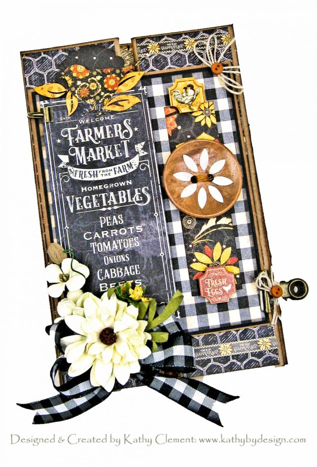 Graphic 45 Farmhouse Double Gatefold Card by Kathy Clement Kathy by Design Photo 01