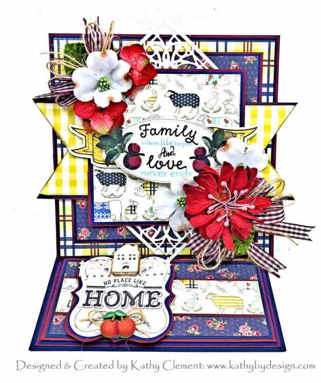 Authentique Homestead Easel Card Tutorial for Throwback Thursday Kathy Clement Kathy by Design Photo 01