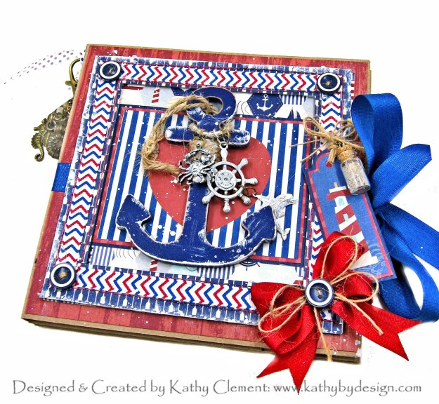 Authentique Voyage Nautical Themed Folio by Kathy Clement Kathy by Design for Really Reasonable Ribbon Photo 01