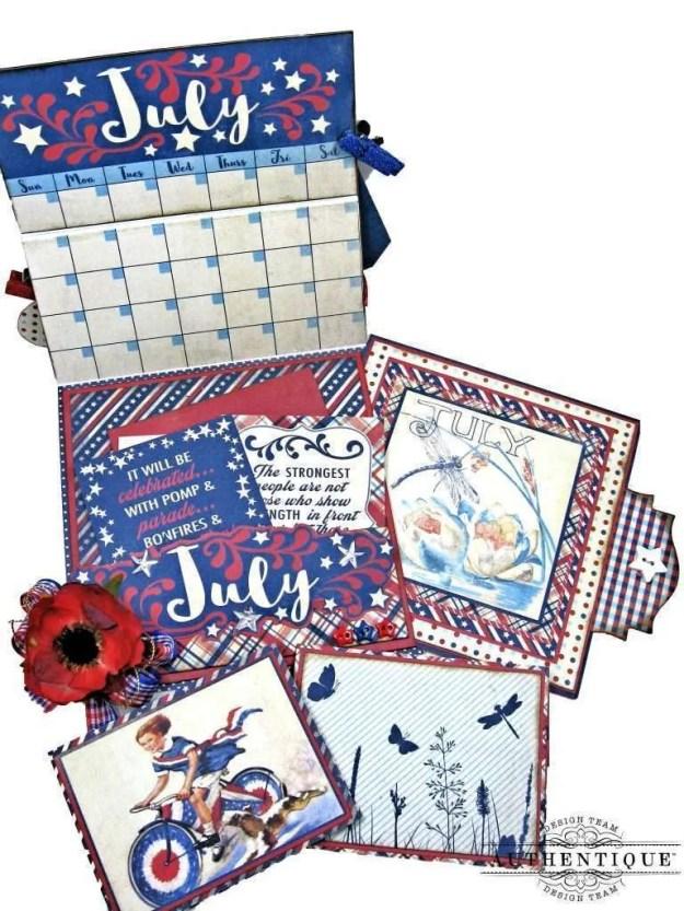 Authentique July Desk Calendar Tutorial by Kathy Clement Kathy by Design Photo 01