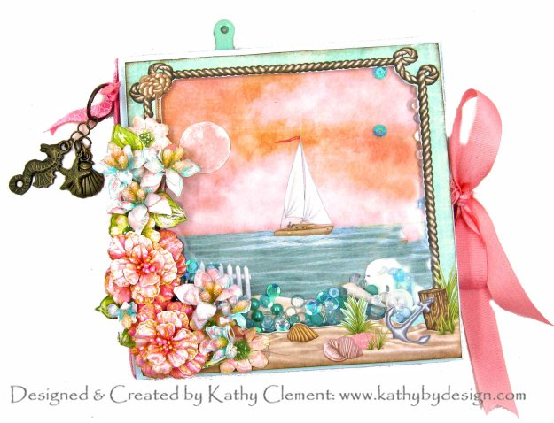 Heartfelt Creations Sea Breeze Sunset Sail Shaker Folio by Kathy Clement Kathy by Design Photo 01