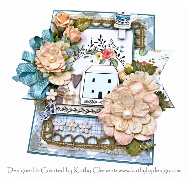 My Mind's Eye Gingham Gardens Summer House Card Folio by Kathy Clement Kathy by Design Photo 01