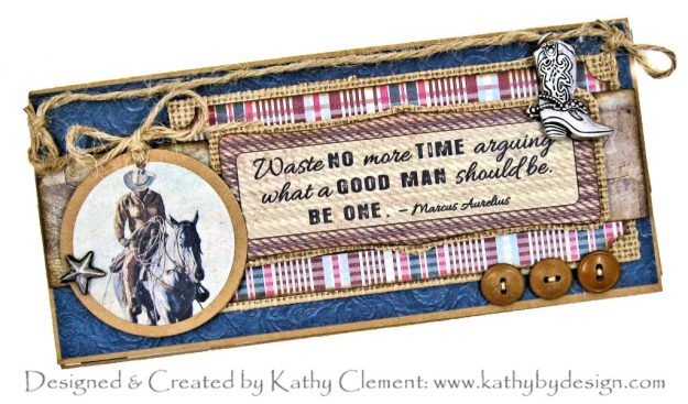 Authentique Manly Slimline Birthday Wallet by Kathy Clement Kathy by Design Photo 01