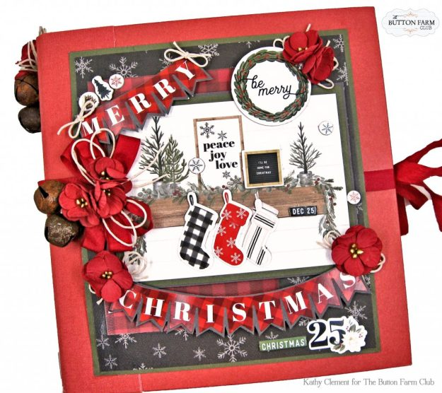 Carta Bella Farmhouse Christmas Album by Kathy Clement Kathy by Design for The Button Farm Club Photo 01
