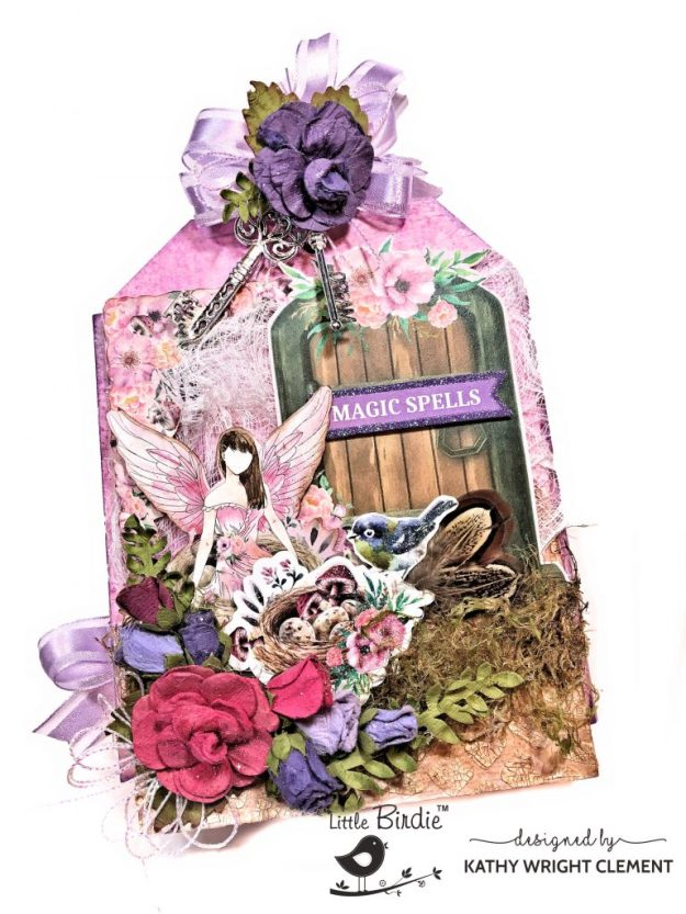 Little Birdie Crafts Fairy Sparkle Mixed Media Tag Folio Tutorial by Kathy Clement kathy by Design Photo 01