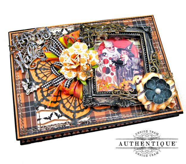 Authentique Masquerade Halloween Photo Wallet Tutorial by Kathy Clement Kathy by Design Photo 01